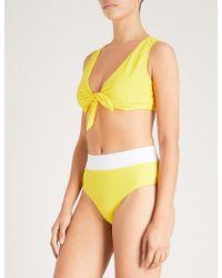 Alexandra Miro - Samantha Tie-front Bikini Top - Lyst