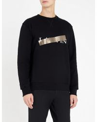 Lanvin - Logo-print Cotton-jersey Sweatshirt - Lyst