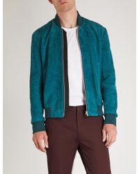 Paul Smith - Suede Bomber Jacket - Lyst