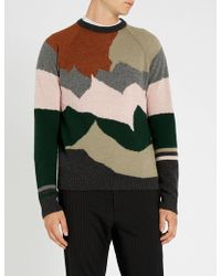 Lanvin - Intarsia Knit Wool And Cashmere Blend Sweater - Lyst