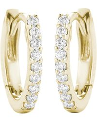 The Alkemistry - 14ct Yellow Gold And Diamond Earrings - Lyst