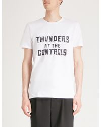 Thunders - At The Controls Cotton-jersey T-shirt - Lyst