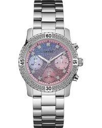 Guess - W0774l1 Confetti Stainless Steel Watch - Lyst