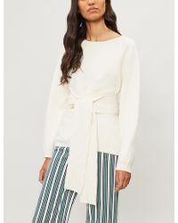 Ba&sh - Hanna Waist-tie Cotton-blend Jumper - Lyst