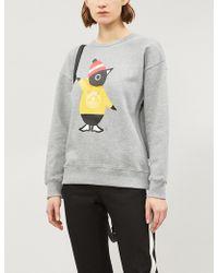 Chocoolate - Penguin Logo-print Cotton Sweatshirt - Lyst