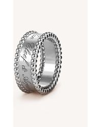 Van Cleef & Arpels - Perlée Signature White-gold Ring - Lyst