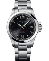 Longines - L3.716.456.6 Conquest Stainless Steel Watch - Lyst