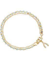 Astley Clarke - Wishbone Amazonite Friendship Bracelet - Lyst