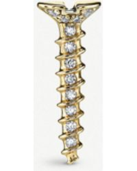 The Alkemistry - Sydney Evan Screw 14ct Yellow-gold And Diamond Stud Earring - Lyst