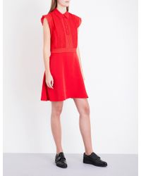 The Kooples Sport - Polo Frilled Sleeveless Crepe Dress - Lyst
