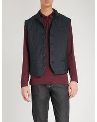 Eleventy - Quilted Shell Gilet - Lyst