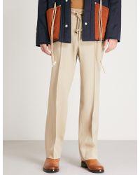 Maison Margiela - Regular-fit Straight Wool Trousers - Lyst