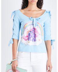 Moschino - My Little Pony-print Cotton-jersey T-shirt - Lyst