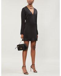 Givenchy - V-neck Satin Mini Dress - Lyst