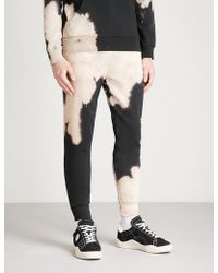 Criminal Damage - Bleach Distressed Cotton-fleece Jogging Bottoms - Lyst