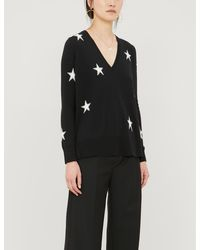 The White Company Star-pattern Wool And Cotton-blend Jumper - Black