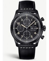Breitling - M13314101b1x1 Navitimer 8 Steel And Leather Watch - Lyst