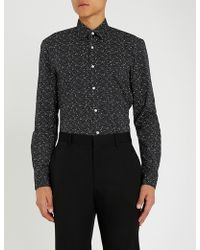 Michael Kors - Constellation Stretch-cotton Shirt - Lyst