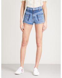 Sandro - Slim-fit Denim Shorts - Lyst