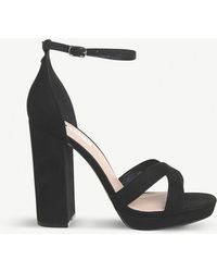 Office - Hiccup Faux-leather Platform-heeled Sandals - Lyst