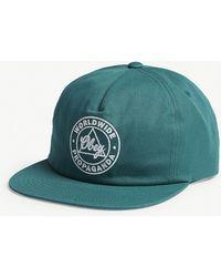 Obey - Logo Cotton Snapback Cap - Lyst