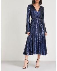 Prabal Gurung - Belted Sequinned Midi Dress - Lyst