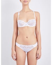 Passionata - White Nights Balcony Lace And Mesh Bra - Lyst