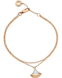 BVLGARI - Divas' Dream 18kt Pink-gold And Mother-of-pearl Bracelet - Lyst
