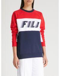 Fila - Contrast-panelling Jersey Sweatshirt - Lyst