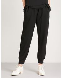 Simone Rocha Scalloped-trim Jersey Jogging Bottoms