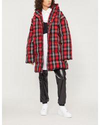 MSGM - Tartan Woven Puffer Jacket - Lyst