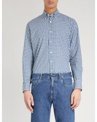 Canali - Checked Regular-fit Cotton Shirt - Lyst