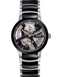 Rado - R30178152 Centrix Stainless Steel And Ceramic Open Heart Watch - Lyst