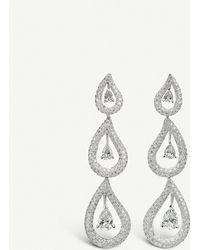 BUCHERER JEWELLERY - 18ct White-gold And Diamond Earrings - Lyst