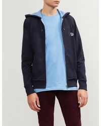 PS by Paul Smith - Zebra-embroidered Cotton-jersey Hoody - Lyst