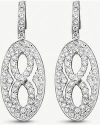 BUCHERER JEWELLERY - Vivelle 18ct White-gold And Diamond Earrings - Lyst
