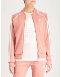 adidas Originals - Sst 3-stripes Jersey Jacket - Lyst