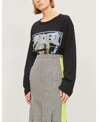 Jaded London - Embellished Printed Cotton-jersey Top - Lyst