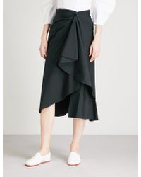 A.L.C. - Diller Ruffled Cotton-blend Midi Skirt - Lyst