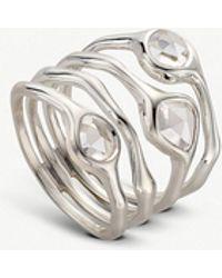 Monica Vinader - Siren Cluster Sterling Silver And Quartz Cocktail Ring - Lyst
