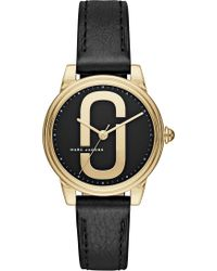 Marc Jacobs - Mj1578 Corie Stainless Steel Quartz Leather Strap Watch - Lyst