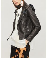 PAIGE - Annika Leather Biker Jacket - Lyst