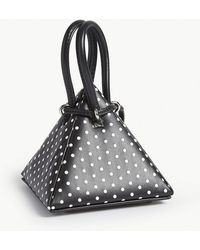 1d89d39740b6 Lyst - Dolce   Gabbana Embellished Polka-dot Sicily Bag in Black