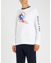 Polo Ralph Lauren - Skier-logo Cotton-jersey T-shirt - Lyst