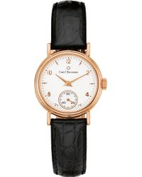 Carl F. Bucherer - 00.10306.03.26.01 Adamavi Rose-gold Sapphire Crystal And Leather Watch - Lyst