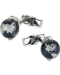 Montblanc - Iconic Globe Cufflinks - For Men - Lyst
