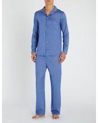 Derek Rose - Bari Checked Cotton Pyjama Set - Lyst