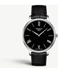 Tissot - T063.409.16.058.00 Tradition Stainless Steel And Leather Quartz Watch - Lyst