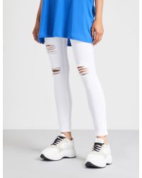 HERA - Distressed Skinny High-rise Jeans - Lyst