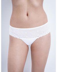 Simone Perele - Délice Embroidered Stretch-tulle Shorty Briefs - Lyst